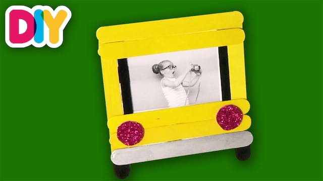 School Bus Picture Frame | Popsicle C...