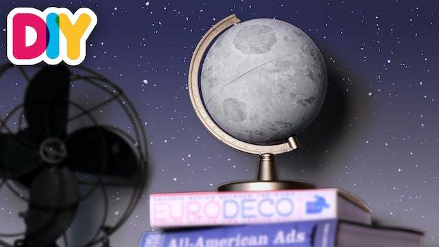 Moon Globe | Upcycled Globe Craft