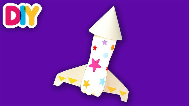 Space Rocket | Recycled Bottle Craft