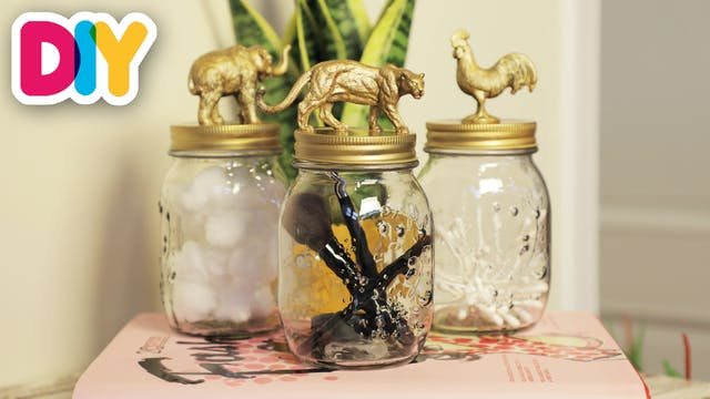 Animal Storage Jars | Mason Jar Craft