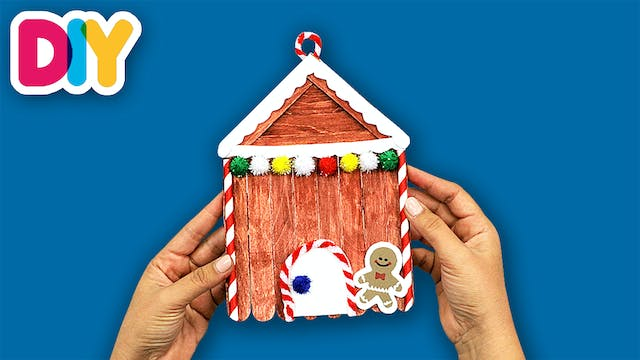 Gingerbread House | Popsicle Craft