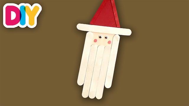 Santa Ornament | Popsicle Craft