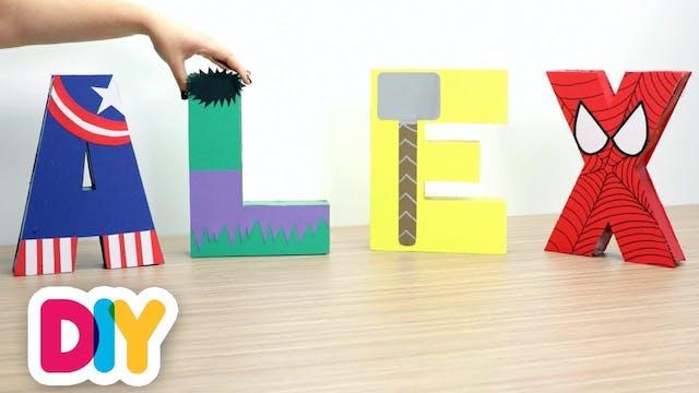 Avengers 3D Letters | Party Paper Craft
