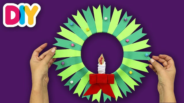 Christmas Wreath | Paper Plate Craft