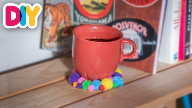 Pom Pom Coasters   Cork Craft