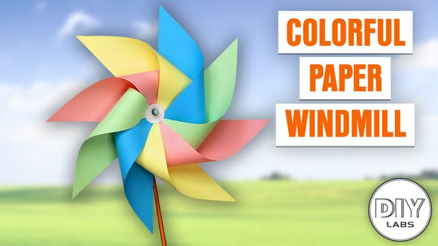 Colorful Paper Windmill