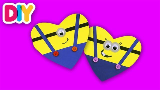 Minion Valentine's Card | Paper Craft