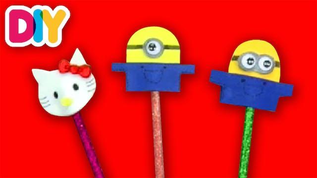 Minions & Hello Kitty | Pencil Topper...