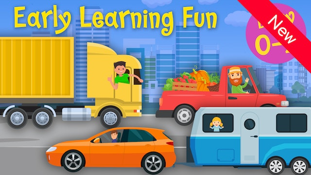 Transportation Vehicles | Colors & Sounds | Early Learning Fun