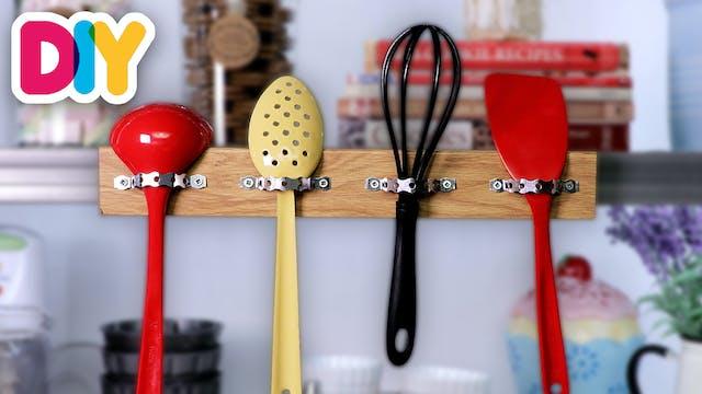 Utensil Hanging Rack | Wood Craft