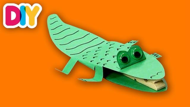 Crocodile | Clothespin Craft