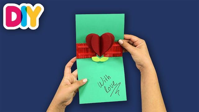 Heart Flower Pop-up Card   Paper Craft