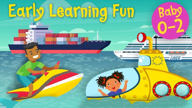 Means of Transportation on Water Vol.2 | Early Learning Fun