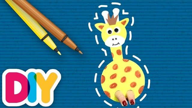 Giraffe | Finger Puppet Craft
