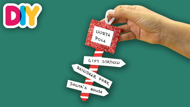 North Pole Ornament | Popsicle Craft