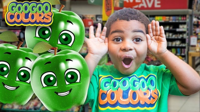 Goo Goo Gaga Help! Apple Lost Her Color! Learn How to Spell Green