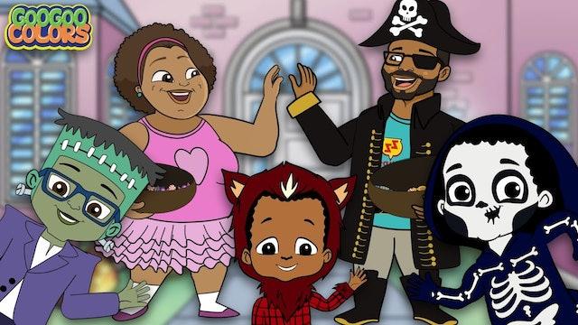 Halloween Songs For Kids! (Goo Goo Colors Trick or Treat Cartoons)