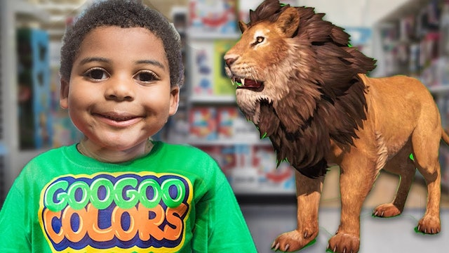 ZOO ANIMALS IN TOYS R US STORE! Learn Animal Sounds with Goo Goo Gaga Pretend