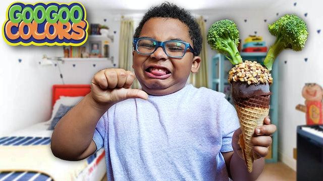 Do You Like Broccoli Ice Cream Song? (Nursery Rhymes with Goo Goo Colors!)