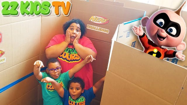 INCREDIBLES 2 GIANT BOX FORT MAZE CHA...