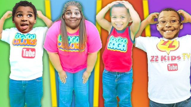 HEAD SHOULDERS KNEES & TOES Song + More! Body Parts Exercise Songs for Children