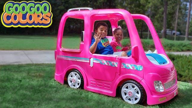 Goo Goo Gaby & Her Barbie Car! (Learn...