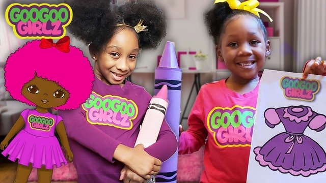 I Love My Pink Dress and Hair! (Learn Colors Compilation with Goo Goo Girlz)