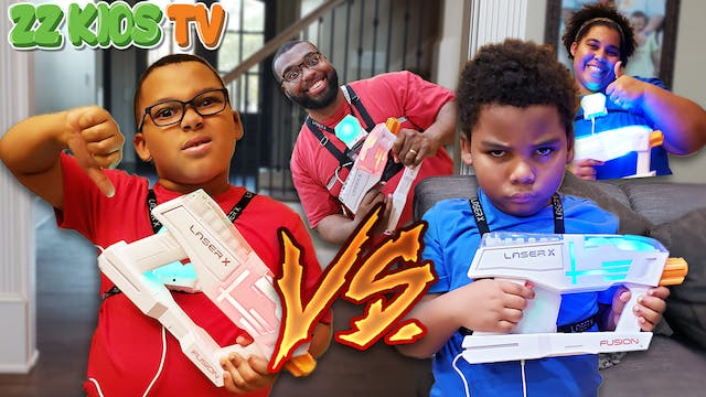 Laser Tag Challenge! Who Will Win? (T...