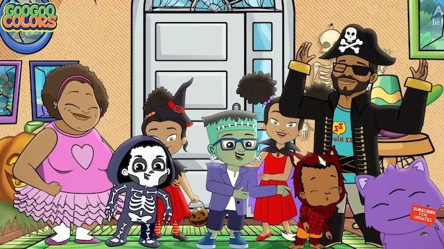 Knock Knock Trick Or Treat! Goo Goo Colors Halloween Song!