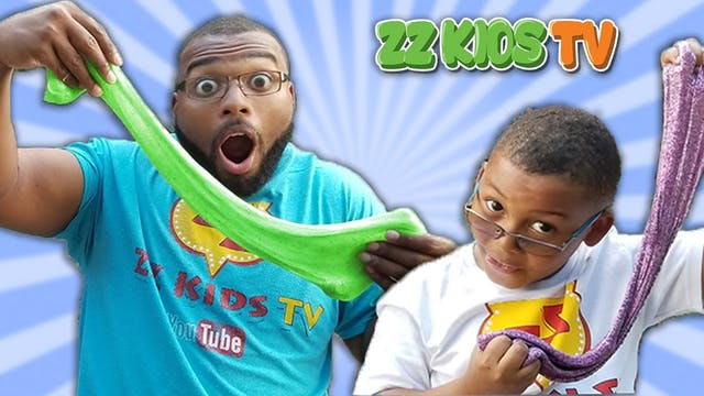 DAD VS SON 3 COLORS OF GLUE SLIME CHA...