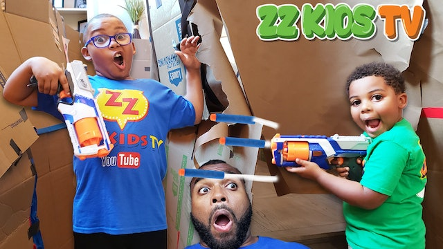 BOX MAZE FORT NERF CHALLENGE! (Who Will Win?)