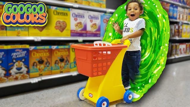 Grocery Shopping Through Magic Wall! ...