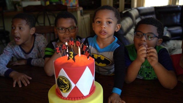 Singing Happy 3rd Birthday to Zanden