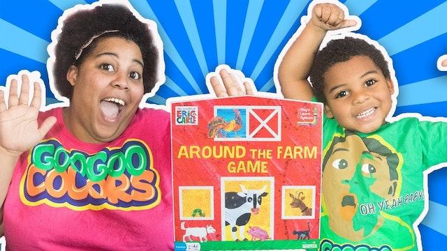 GOO GOO GAGA PLAYS AROUND THE FARM BOARD GAME FOR KIDS!