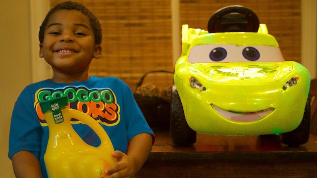 LEARN COLORS WITH TALKING CAR COLORFUL FRUIT JUICES AND GOO GOO GAGA